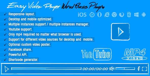 Easy-Video-Player-Wordpress-Plugin