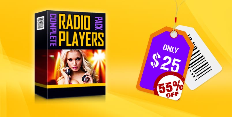 HTML5 Radio Player WordPress Plugins Bundle 55% Discount