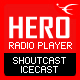 HERO – HTML5 IceCast & ShoutCast Radio Player With History