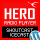 HERO – Shoutcast Icecast WordPress Radio Player With History