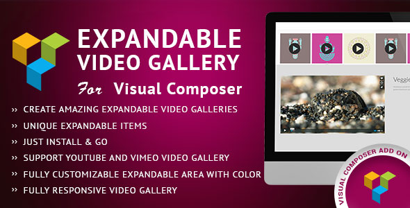 Expandable Video Gallery Visual Composer Add-on