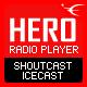 HERO – HTML5 IceCast & ShoutCast Radio Player With History