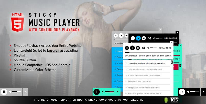 Sticky Audio Player jQuery Plugin