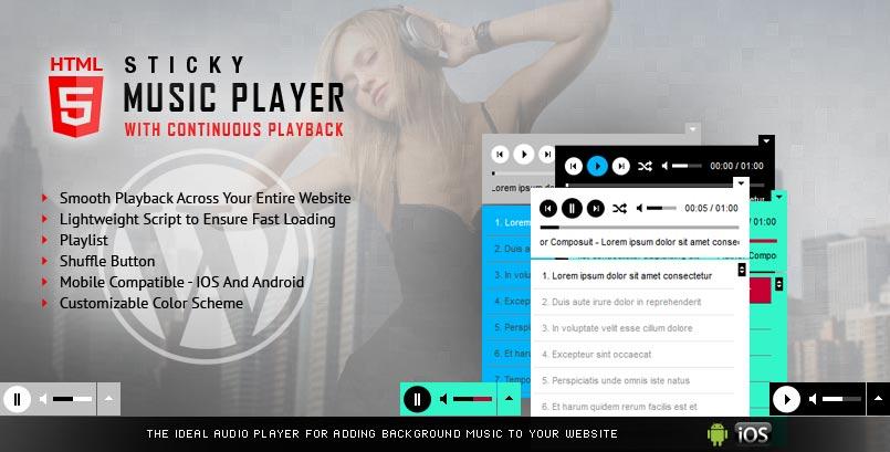 Sticky Audio Player WordPress Plugin
