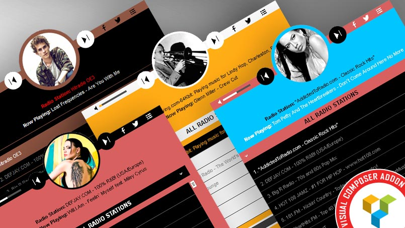 Visual Composer Addon HTML5 Radio Player